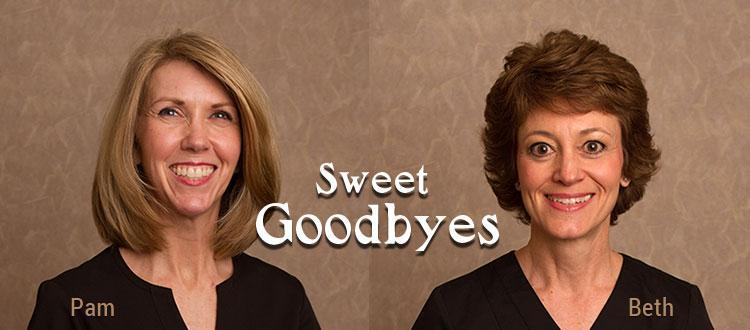 2016 Sweet Goodbyes - Pamela Lees and Beth Burgess Retire After More than 19 Years at Aspen Grove Dental