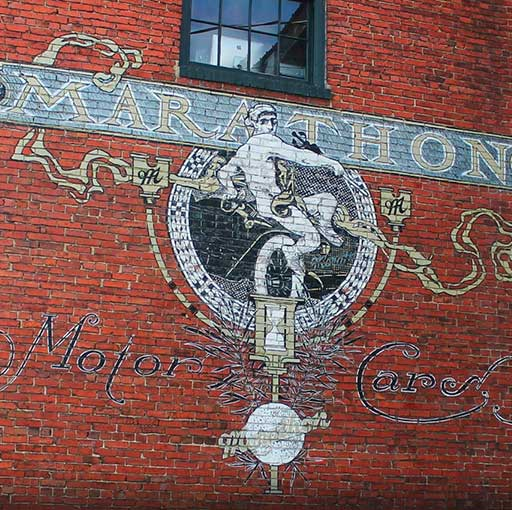 Marathon Village Wall Mural