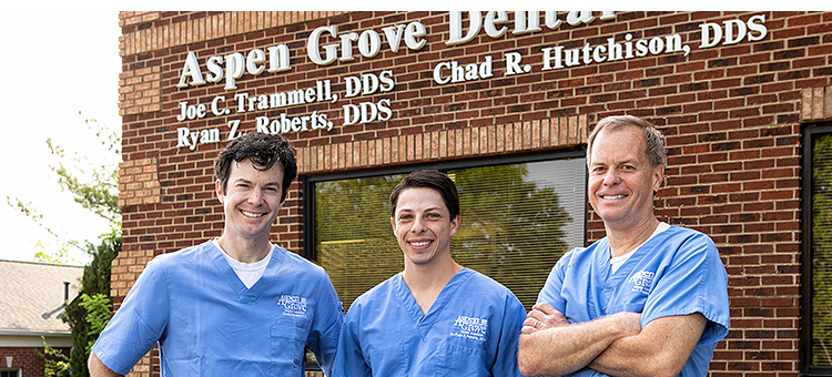 Franklin TN Family Dentists of Aspen Grove Dental Dr. Joe C. Trammell DDS, Dr. Chad R. Hutchison DDS and Dr. Ryan Roberts DDS