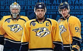 Three Nashville Predators Hockey All Star Players