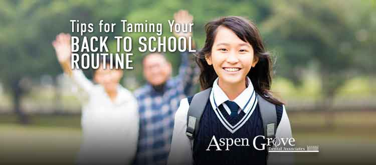 Aspen Grove Dental - Back to School Tips Blog Graphic