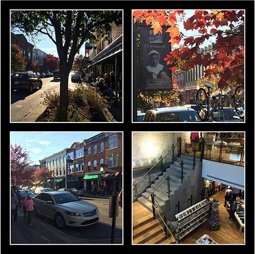 Photo montage of downtown Franklin photo opps.