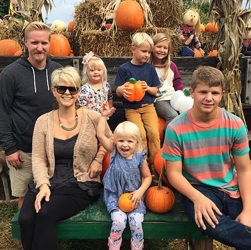 Family Photo at Pumpkin Patch