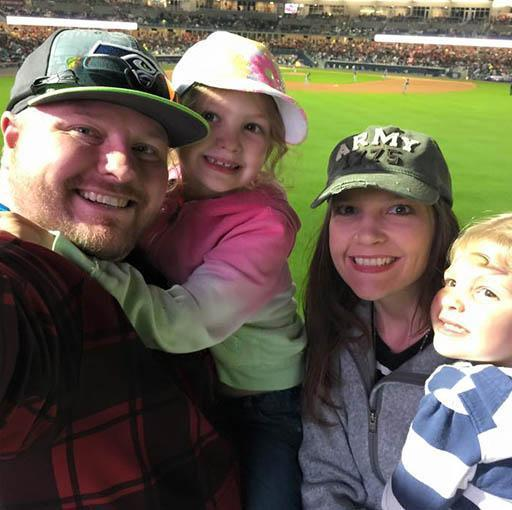 Family selfie at the New Sounds Stadium